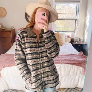 Vintage Co & Eddy Chunky Striped Zip Up Sweater